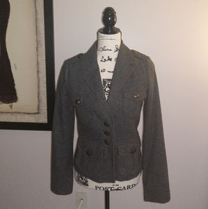 H&M military tweed jacket